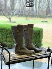 b.o.c Born Womens Size 8.5 Tall Riding Boots Brown Leather Excellent Condition!