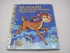"Vtg Little Golden Book ""Rudolph the Red-Nosed Reindeer Shines Again"", 1982"