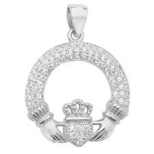 Round Cubic Zirconia Religious Costume Necklaces & Pendants