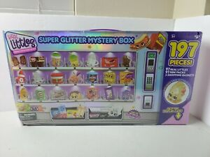 SHOPKINS Real Littles Super Glitter Box Set - 197 Pieces with a Glitter Case