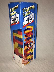 1995 Complete in box Throw 'n Go Jenga Game by Milton Bradley Ages 8 to Adult
