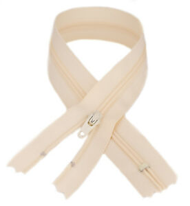 YKK #3 Coil Zipper, 7 Inch Length, Cream 099 (10 Pack)
