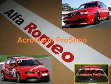 "53"" Alfa Romeo 147 155 windshield sun strip decal sticker GTA Cup TI BTCC 156 4c"