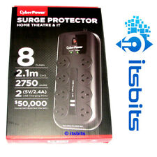 CyberPower 8 Port Surge Protector - CPSURGE08USBANZ