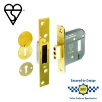 Securit 5 Lever Dead Lock Bs3621 Brass, 75mm