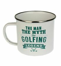 Golfing Legend Camping Enamel Tin Metal Mugs Cups Outdoor Gardening Picnic New