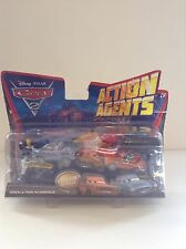 NIP Disney Pixar Cars 2 Action Agents Grem Finn McMissile Battle Set Toy