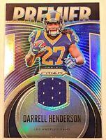 Darrell Henderson ROOKIE PATCH Los Angeles Rams 2019 Prizm Premier Silver