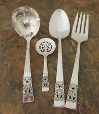 Oneida Coronation 4 Serving Pieces Spoon Gravy Fork Community Silverplate Lot P