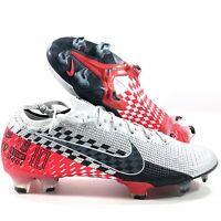 Nike Vapor 13 Elite NJR FG Neymar Chrome Black Red Soccer Cleats Men's 6