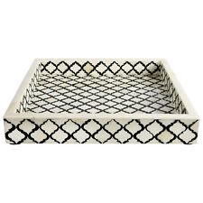 Decorative Oraganizer Tray Moroccan Pattern Buffalo Bone Handmade Size 12x12''