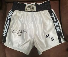 Autographed Heavyweight Champion Michael Spinks boxing trunks