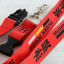 Mugen Lanyard Keychain Quick Release Key Chain Strap HONDA ACCORD CIVIC - Red
