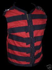 straight jacket buckle VEST XXL 2XL Goth gothic black