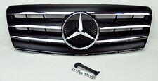 Mercedes S Class W140 92-99 4 Fin Front Hood Sport Black Grill Grille