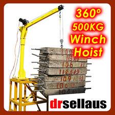 360º CONTINUOUS 500KG ELECTRIC CRANE WINCH HOIST 12V