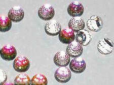3pc Vintage SWAROVSKI Crystal Vitrail round fire balls No holes 3/4 flatback 6mm