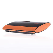 Textured Orange Carbon Fibre Playstation PS3 Super Slim Decal skin cover wrap