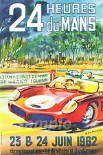 VINTAGE LE MANS 1962 RACING A2 POSTER PRINT
