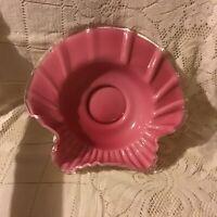 Fenton Silver Crest Cranberry Bowl