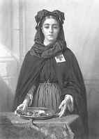 NURSE NUN SISTER of RED CROSS Society Hospital ~ Old 1878 Art Print Engraving
