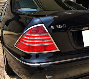 Chrome Taillights Trim Bezel Surround Rim For Mercedes Benz S-Class W220 02-05