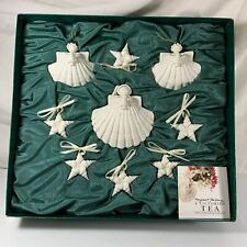 Margaret Furlong Christmas Angel & Star Collection Ornaments Porcelain in Box