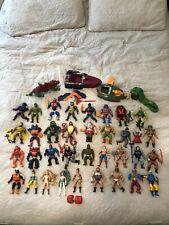 Mattel Masters of the Universe 1980s He-Man HUGE Lot 35 Figures Plus Vehicles