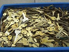 Lot of Misc 5+ lbs Brass  Key Blanks  UN-CUT (yellow color)   Maid in USA