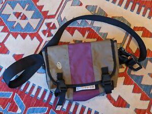 TIMBUK2 XS/S GRAY/PURPLE CLASSIC MESSENGER BAG VINTAGE CROSSBODY MADE IN USA