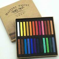 12/24/36/48 Colors Set Soft Pastels Length Square Chalk Gift Crayon Vivid N J7G0