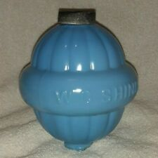 W C Shinn Blue Glass Lightning Rod Globe Ball Lincoln Neb Vintage