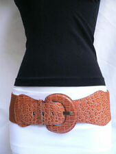 Women's Sexy Hip High Waist Light Brown Mocha Trendy Belt Size XS S M