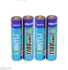 4 Piles Rechargeable 1.5V AAA Lithium ion Li-ion 1100Mwh Kentli PH7 Pile Accu