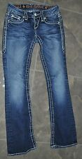 5a- CLOTHES JUNIOR JEANS SZ 25 ROCK REVIVALS 30-31' INSEAM SO CUTE GENTLY USED