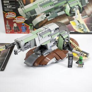 LEGO 6209 Star Wars Slave I w/ box instructions Boba Fett 99% complete