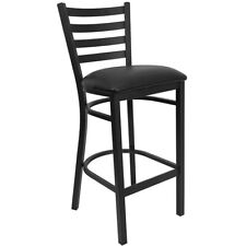 Flash Furniture Metal Restaurant Bar Stool, Black - XU-DG697BLAD-BAR-BLKV-GG