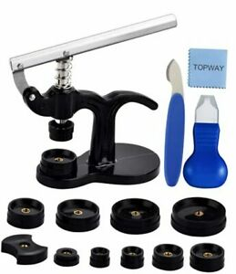 Watch Repair Tool Kit, Watch Press Set with 12 Assorted Dies,Watch Back Case