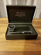 L & Co Timepieces watch, pen, business card holder | New, never worn |