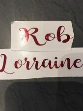 Personalised Name Transfer Vinyl Decals for Flutes Wine Glasses Tumblers Mugs