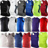 Men Body Armour Compression Under Skin Base Layer Sleeveless Vest Tank Top Shirt