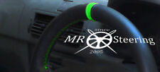 FOR RENAULT MASTER 1997-2010 GENUINE LEATHER STEERING WHEEL COVER + GREEN STRAP