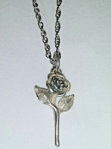 James Avery Sterling Silver Rose Pendant Necklace - 16 Inches - #1
