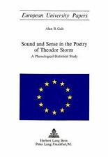 Sound and Sense in the Poetry of Theodor Storm: A-ExLibrary