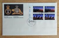 CANADA First Day Cover 1250ii Inscription Block Infantry Regiments 1249-50 FDC