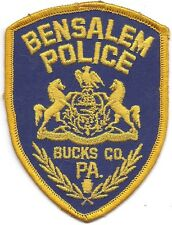 **BENSALEM PENNSYLVANIA POLICE PATCH**