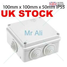 Grey Waterproof Junction Box 100 x 100 x 50 IP55 PVC Ideal for Outside