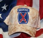 10TH MOUNTAIN INFANTRY DIVISION ID BLUE ROCKER TAB HAT PATCH CAP US ARMY VET