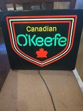 O'Keefe Beer Sign. Lighted. Bar Display/Man Cave.