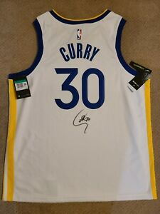 Stephen Curry Signed Jersey Autographed Nike Warriors Authentic